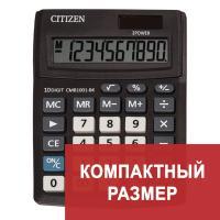 Калькулятор настольный CITIZEN BUSINESS LINE CMB1001BK, малый(136x100мм),10 разрядов, двойное питание