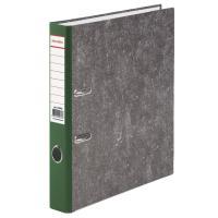 Папка-регистратор BRAUBERG фактура стандарт, с мраморным покрытием, 50 мм, зеленый корешок