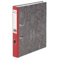 Папка-регистратор BRAUBERG фактура стандарт, с мраморным покрытием, 50 мм, красный корешок