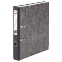 Папка-регистратор BRAUBERG фактура стандарт, с мраморным покрытием, 50 мм, черный корешок