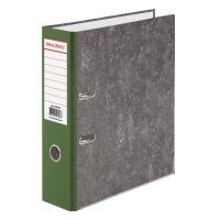 Папка-регистратор BRAUBERG фактура стандарт, с мраморным покрытием, 80 мм, зеленый корешок