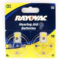 Батарейки воздушно-цинковые RAYOVAC 10 (PR70) Acoustic 105mAh (для слуховых аппаратов) 8шт.