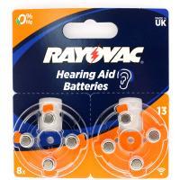 Батарейки воздушно-цинковые RAYOVAC 13 (PR48) Acoustic 310mAh (для слуховых аппаратов) 8шт.