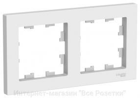 Рамка Schneider AtlasDesign, двухместная (Белая)