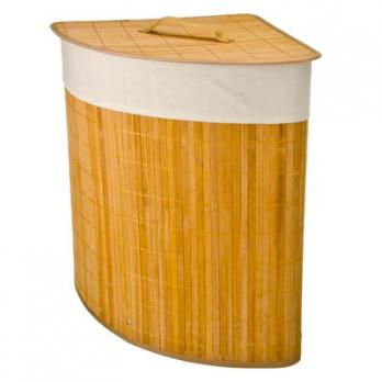 Корзина для белья VETTA складная угловая бамбук 35x35х50см
