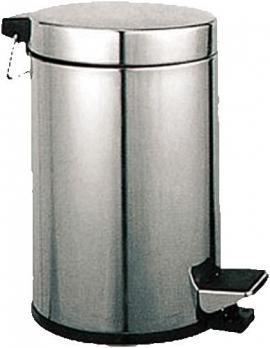 Ведро для мусора 5л LEDEME (Хром)