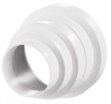 Редуктор ВЕНТС многоступенчатый универсальный для круглых воздуховодов пластиковый d80/100/120/125/150мм (310 Р)