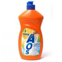 AOS Ср-во д\мытья посуды 500/450мл. Лимон