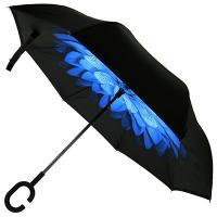 Зонт-трость механический, обратного сложения