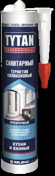 Герметик силикон санитарный бесцветный 280 мл TYTAN Professional