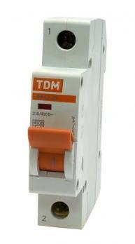 Автоматический выключатель TDM ВА47-63 1P 40А 4,5кА