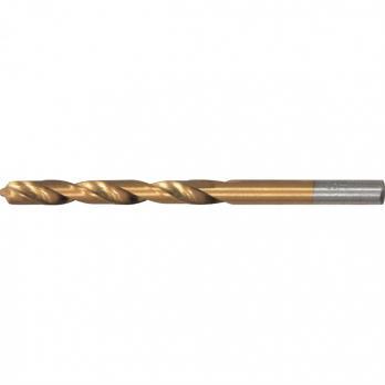 Сверло по металлу, 8 мм, HSS, нитридтитановое покрытие, цилиндрический хвостовик// MATRIX