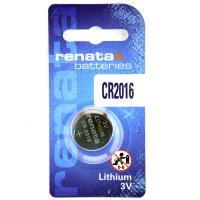 Батарейка литиевая RENATA CR2016 дисковая 3В бл/1