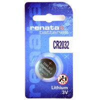 Батарейка литиевая RENATA CR2032 дисковая 3В бл/1