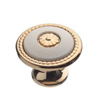 Ручка-грибок FB-027 золото/белый