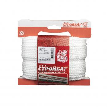 Шнур хозяйственно-бытовой без сердечника 4,0мм белый (50 м)