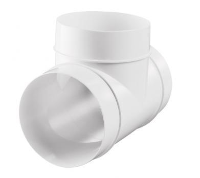 Тройник ВЕНТС для круглых воздуховодов пластиковый d100мм 90° (131 Р)