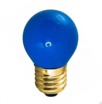 Лампа накаливания Neon Night шар G45 E27 10W синяя матовая (для гирлянды
