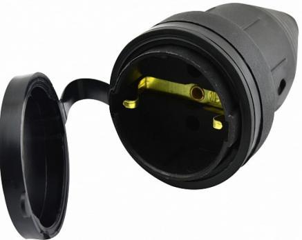 Штепсель (разъем) с заглушкой TECCO каучук 220-240V