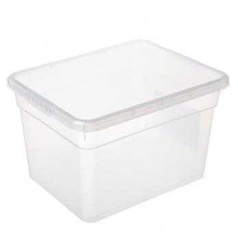 Ящик для хранения с крышкой 5л BASIC, полипропилен, 25х19х16см