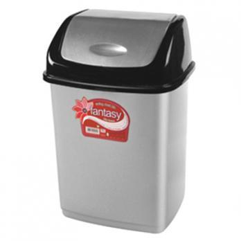 Ведро пластикове для мусора 10л, с плавающей крышкой