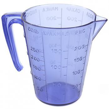 Кружка мерная пластмассовая 0,25л