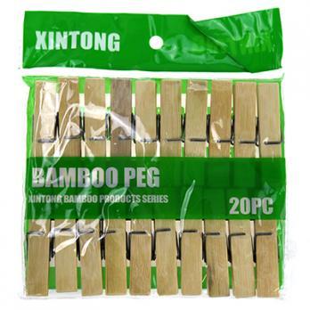Прищепка бамбуковая 20 штук, 6см