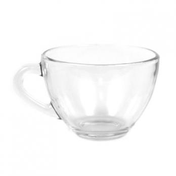 Чашка чайная стеклянная 200мл, д9см, h6,2см, форма