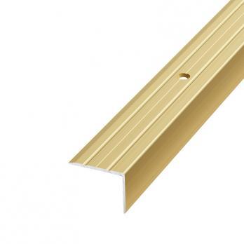 Порог алюминиевый угловой 0.9м, 24*18мм (Золото)